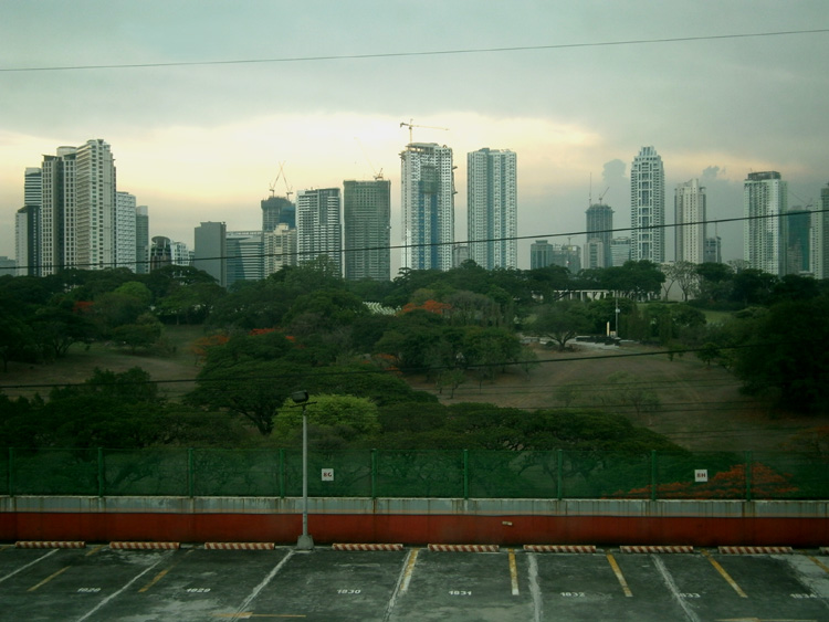 Rain clouds over Bonifacio Global City