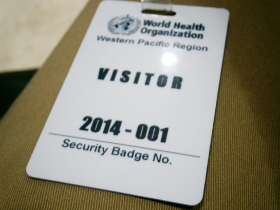 The visitor's badge