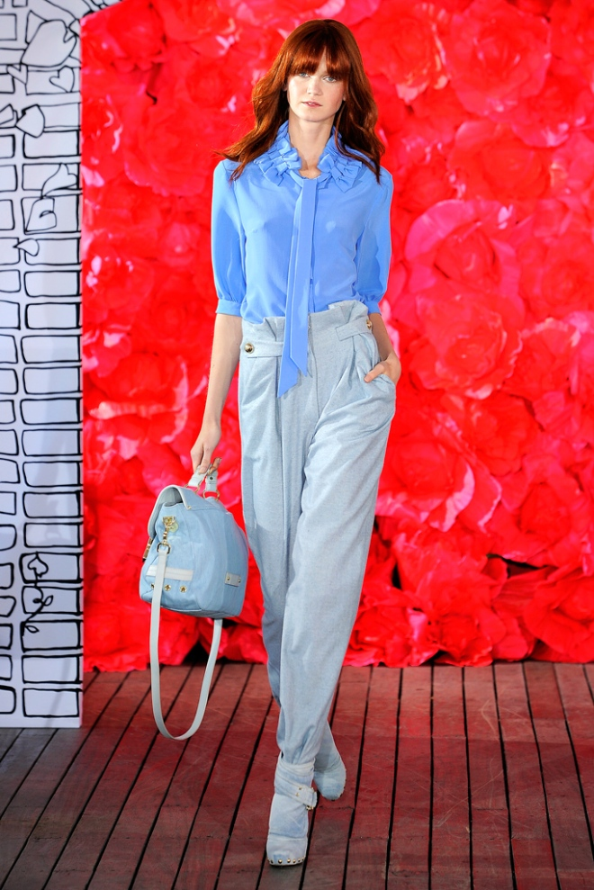 Mulberry Tillie in Washed Denim from the Spring Summer 2011 runway show