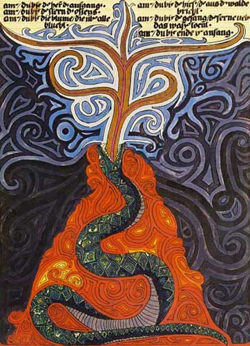 Carl Jung's painting of a snake in his dreams