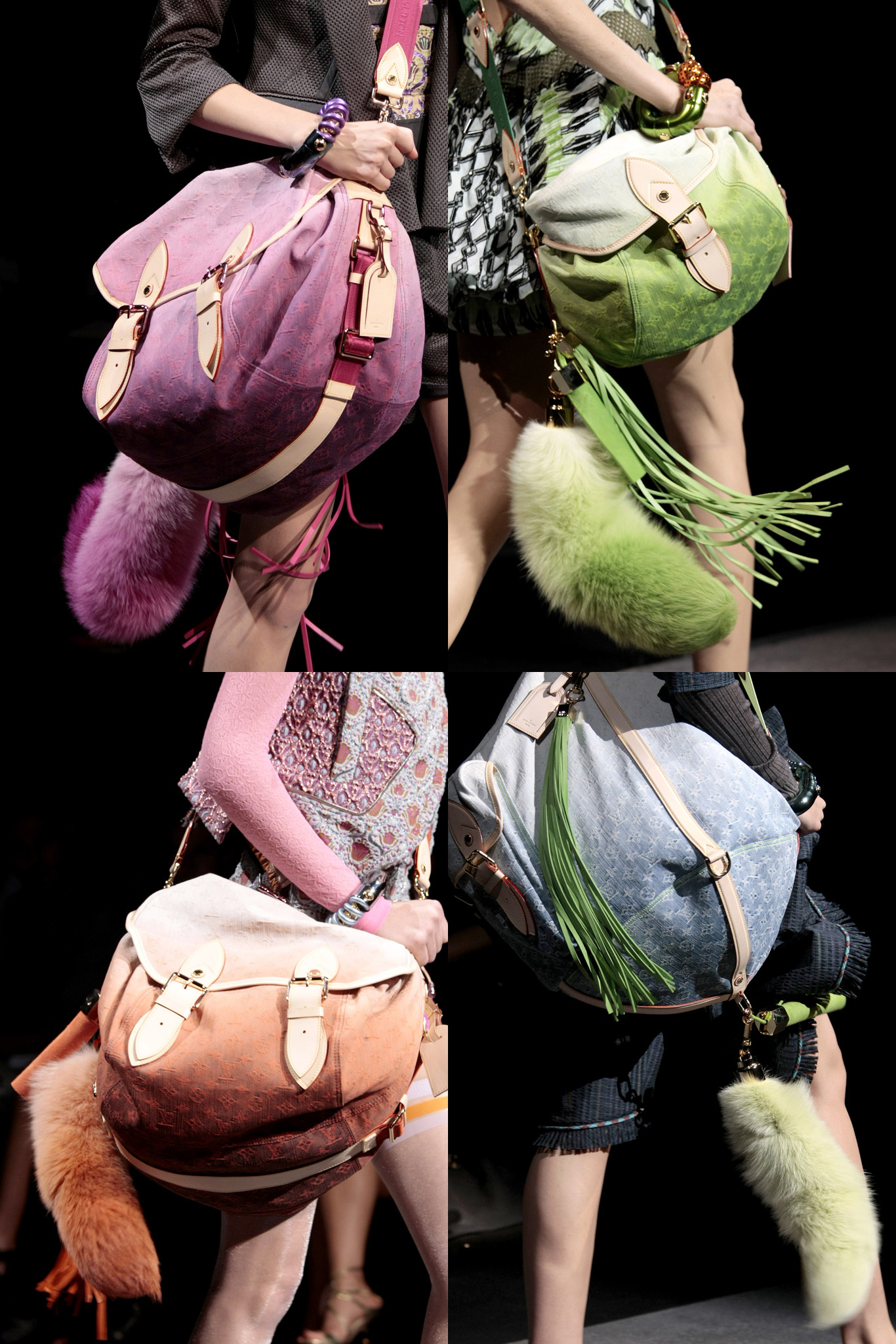 Inspiration - fox tail bag charms from Louis Vuitton Spring Summer 2010