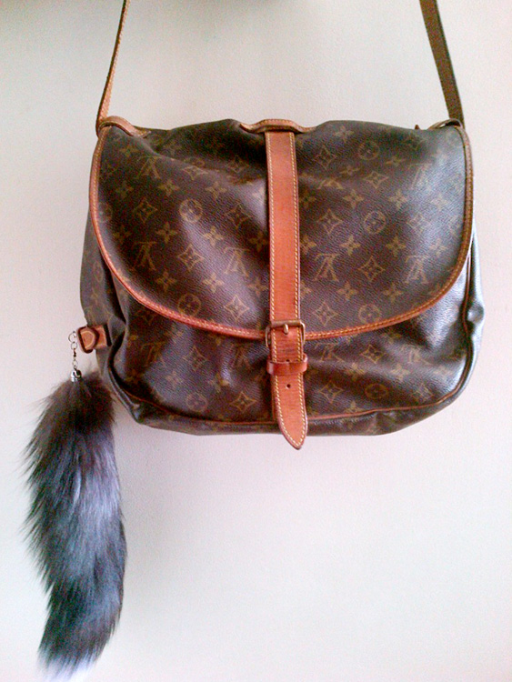 Louis Vuitton Saumur 35 with a fox tail charm