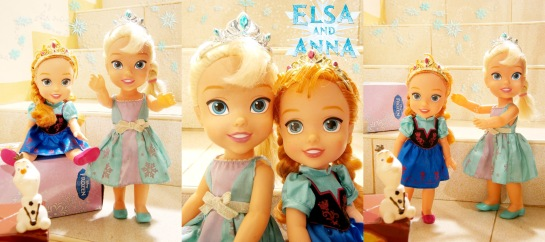 Toddle Elsa and Toddler Anna dolls with Olaf - Disney Frozen