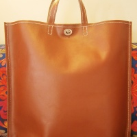My DIY saddle-stitched leather tote bag =)
